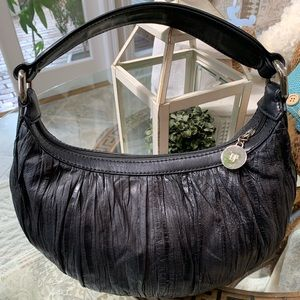 DONALD J PLINER COWHIDE LEATHER BAG